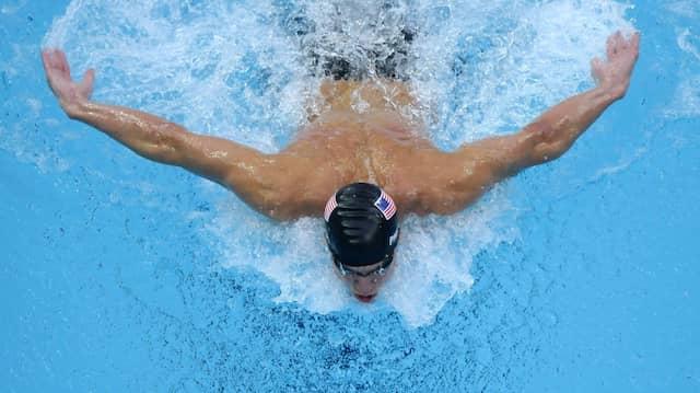 Die Spitze der Spitzensportler: Michael Phelps bei den Olympischen Spielen in Peking 2008.