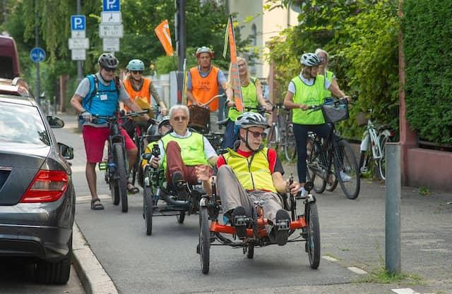 """In der MS-Selbsthilfegruppe """"Radfahrlust"""" treffen sich gut 50 Gleichgesinnte einmal im Jahr zu einer einwöchigen Tour."""