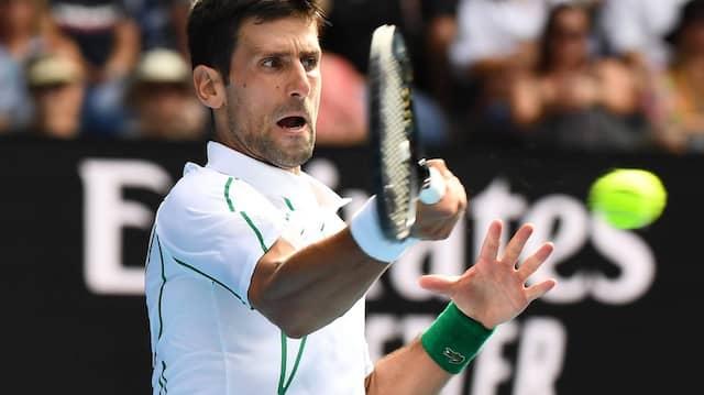 Novak Djokovic im Spiel gegen Diego Schwartzman