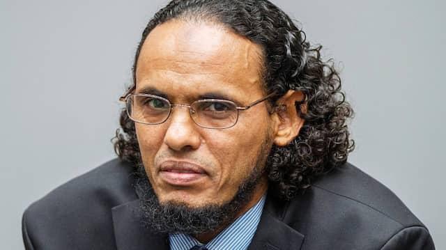 Der angeklagte Islamist Ahmad al-Faqi al-Mahdi vor dem Internationalen Strafgerichtshof in Den Haag