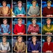 Von 2020 (oben links) bis 2005 (unten rechts): Kanzlerin Merkel bei ihren 16 Neujahrsansprachen.