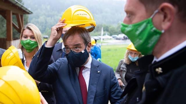Der neue CDU-Vorsitzende Armin Laschet bei einem Besuch im Bergwerk Zinnkammern Pöhla im sächsischen Schwarzenberg