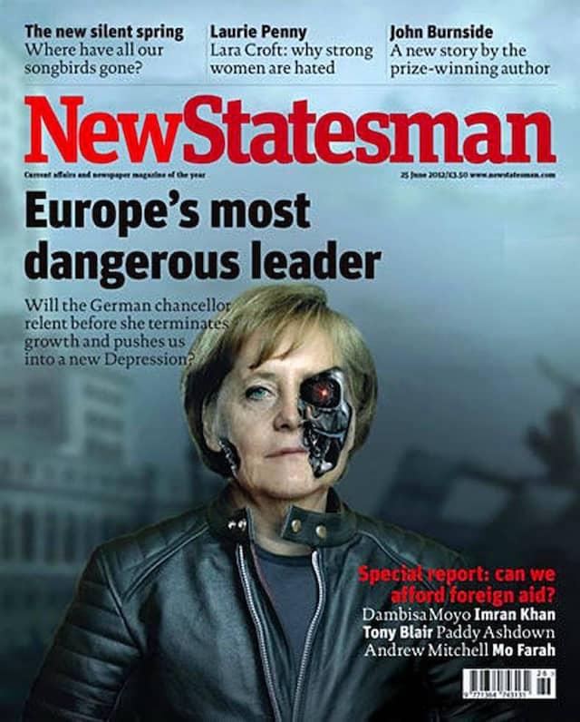"""Angela Merkel als größte Gefahr für Europa im """"New Statesman"""""""