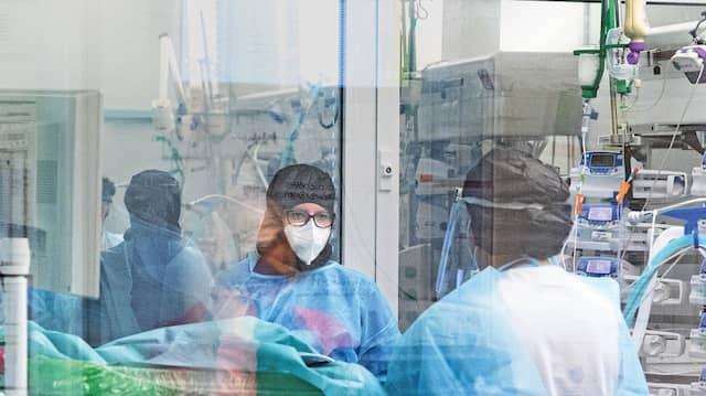 Wichtiger Wert: Wie viele Covid-Kranke auf  Intensivstationen liegen.