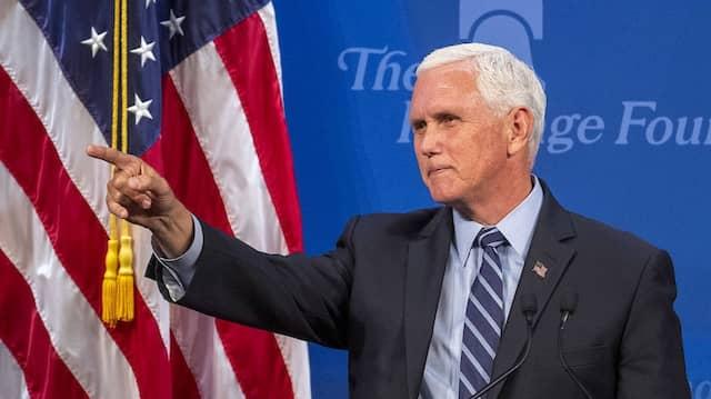 Mike Pence im Juli in Washington