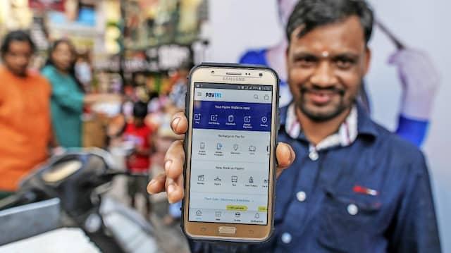 Auch der Bezahldienst Paytm profitiert von der Coronakrise, wie so viele Onlinefirmen in Indien.