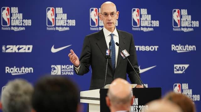 Knickte nicht ein: NBA-Chef Adam Silver