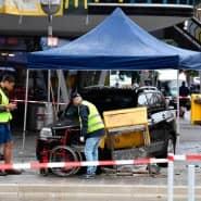 Spurensicherung nach dem Unfall in Berlin