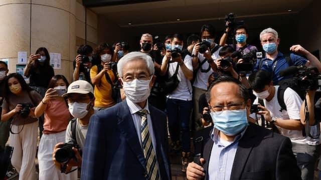 Bekannte Figuren des Protests: Martin Lee (l) und Albert Ho