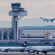 Tut der Umwelt nicht gut: Landeanflug am Frankfurter Flughafen