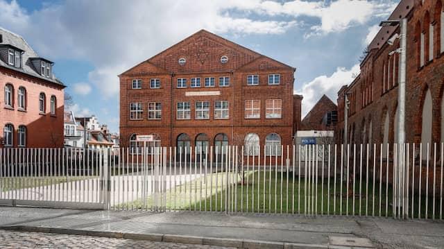 Die frisch renovierte Carlebach-Synagoge im Lübecker Stadtteil St. Annen.