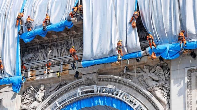 Kein Verhüllungsverbot: Der Arc de Triomphe bekommt im September ein Kleid auf Zeit.