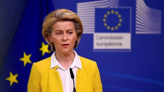 Keine gute Meinung hat die Mehrheit der Deutschen von ihrer Arbeit zur Bekämpfung der Pandemie: EU-Kommissionspräsidentin Ursula von der Leyen