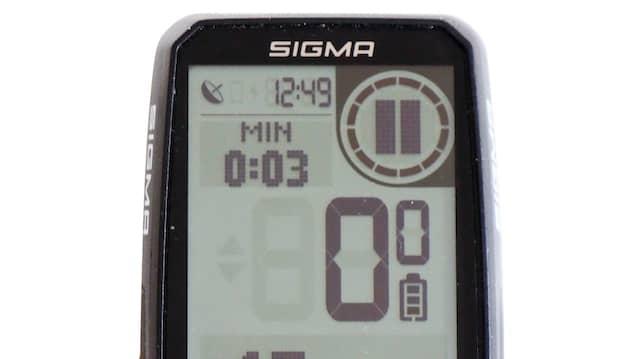 Nüchterner Anblick: Sigma Computer mit drei Tasten