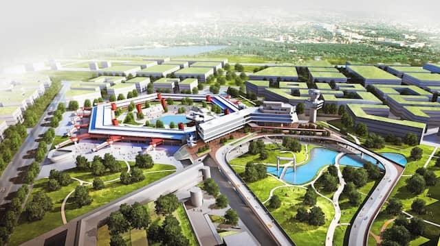 Hochfliegende Pläne: Das Terminalgebäude des ehemaligen Airports Tegel wird zum Nukleus von Berlin TXL.