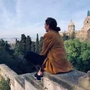 Maike Stemmler vor Verhängung der Ausgangssperre in Barcelona