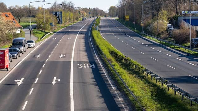 Atempause für die Umwelt: Wegen des geringen Verkehrs sind hessenweit die Stickoxid-Werte um 35 Prozent gesunken.