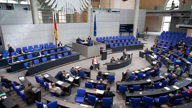 Das Plenum des Bundestages am Freitag.