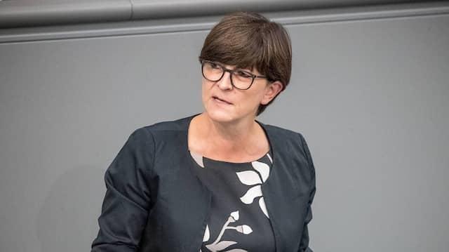 Saskia Esken (SPD) im November 2018 im Plenum im Deutschen Bundestag
