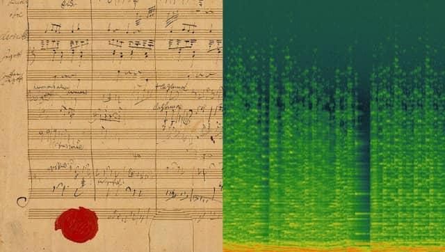 Beethovens Skizze eines Glasharmonika Stücks