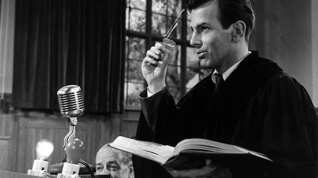 Eines Oscars würdig: Maximilian Schell als Hans Rolfe im Film Judgement at Nuremberg.