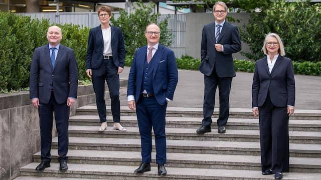 Derzeit im Sachverständigenrat (von links nach rechts): Achim Truger, Veronika Grimm, Noch-Vorsitzender Lars Feld, Volker Wieland und Monika Schnitzer