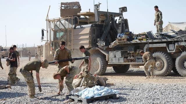 Britische Soldaten in der Helmand-Provinz von Afghanistan. (Archivbild)