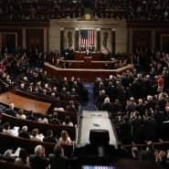 Donald Trump bei seiner ersten Rede vor dem Kongress. Der Präsident hatte das Abkommen mit dem Iran immer wieder scharf angegriffen.