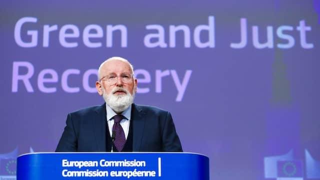 Frans Timmermans, geschäftsführender EU-Vizepräsident und EU-Kommissar für den Europäischen Grünen Deal, am 28. Mai 2020.