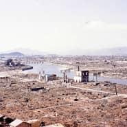 Die verwüstete Stadt Hiroshima nach dem Atombombenabwurf auf einer undatierten Aufnahme
