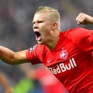 Gegen die Eintracht jubelte er am vergangenen Freitag zwar auch – aber immerhin (nur) in der Bundesliga und für den BVB, nicht auch für Europa-League-Gegner RB Salzburg: Erling Haaland.