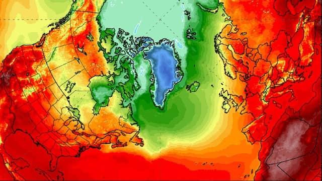 Hitzewelle auf der Nordhalbkugel