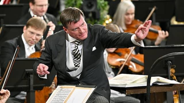Dirigent Christian Thielemann mit den Wiener Philharmonikern