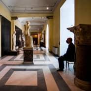 Museumswärter in den wieder eröffneten Kapitolinischen Museen