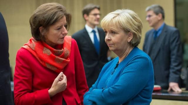 Sie wissen, wie man Medienpolitik macht: Die Ministerpräsidentinnen Malu Dreyer (links) und Hannelore Kraft.