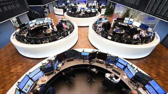 Blick in den Handelssaal der Frankfurter Börse