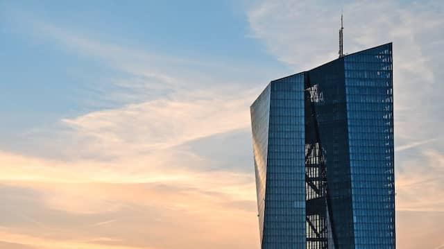 Der Sitz der Europäischen Zentralbank in Frankfurt.