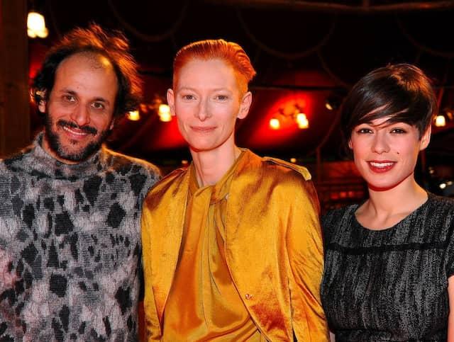 Mit Tilda Swinton (Mitte, hier während der Berlinale 2010) arbeitete Regisseur Guadagnino bereits für drei Filme zusammen.