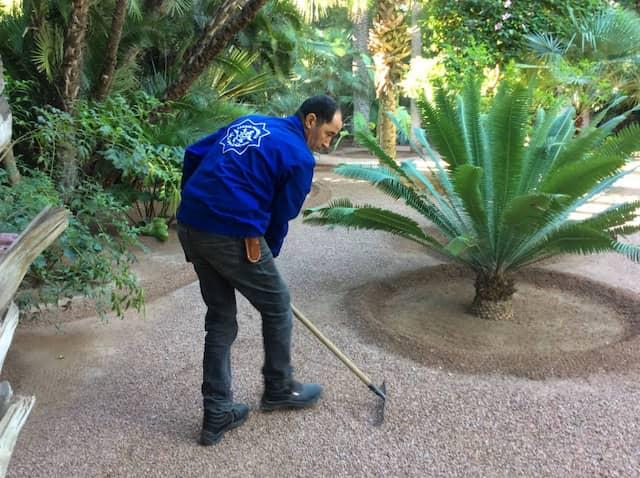 Bei der Arbeit: Obergärtner Youssef Jellab.