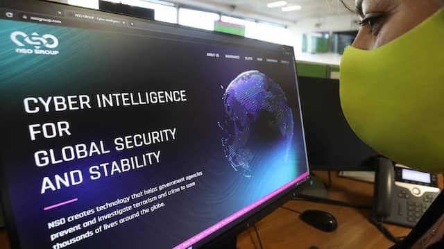 Webseite des israelischen Unternehmens NSO