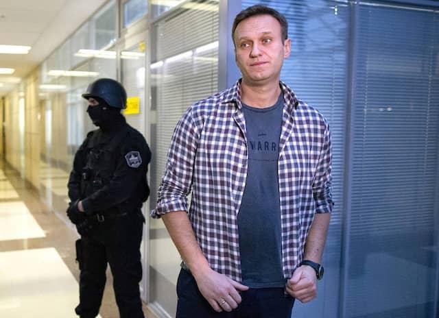 Aleksej Nawalnyj im vergangenen Dezember in einem Büro der Anti-Korruptions-Stiftung in Moskau