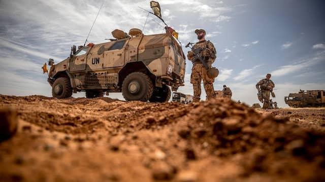 Soldat der Bundeswehr im November 2018 in Gao, Mali