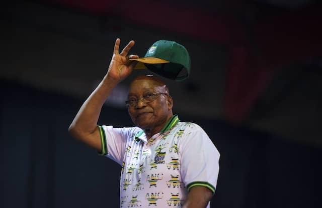 """Befreiung von der """"schwarzen Gier"""": Jacob Zuma im Dezember."""