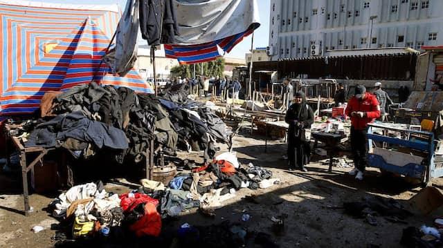 Der Ort des Anschlags in Bagdad am Donnerstag