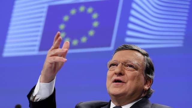 Ein Bild aus vergangenen Tagen: Jose Manuel Barroso bei einer Pressekonferenz der EU-Kommission
