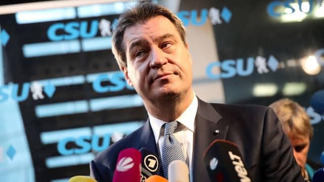 Bayerns Ministerpräsident Söder am Montag auf dem Weg zur Sitzung des Parteivorstandes der CSU