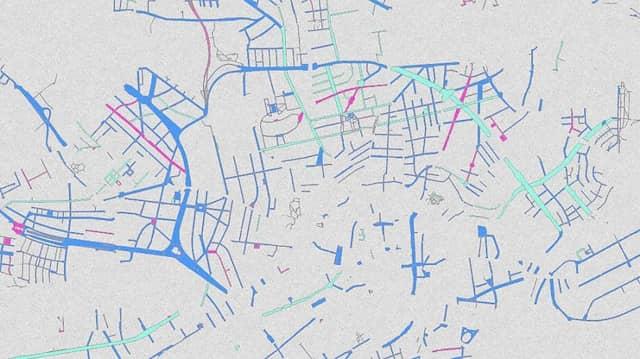 Männerstraßen blau, Frauenstraßen, rosa: Das Geoportal der Stadt Frankfurt bietet einen neuen Service.
