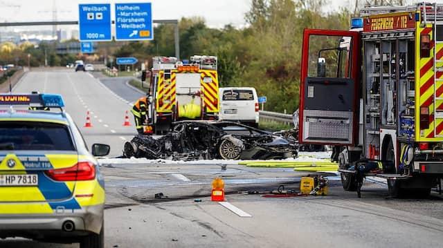Tödlicher Unfall: Einsatz an der Unfallstelle auf der A66