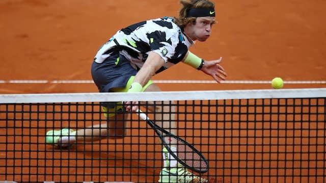 Der russische Tennisprofi Andrei Rubljew steht im Halbfinale von Hamburg.