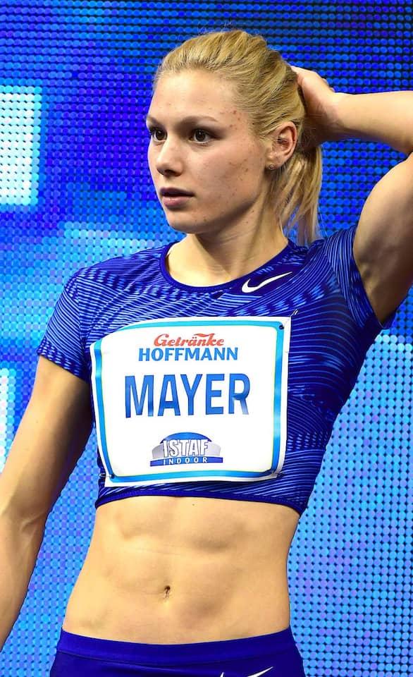 Sprinterin Lisa Mayer: Tief einatmen und positiv denken.